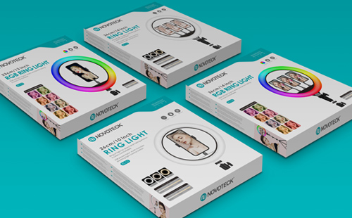补光灯包装设计, RING LIGHT packaging design